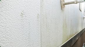 屋根や外壁の塗装が剥がれてきている